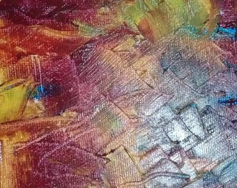 OIL on canvas ABSTRACT rating DROUOT oil frame on canvas