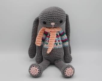 Justin your flop crochet bunny friend