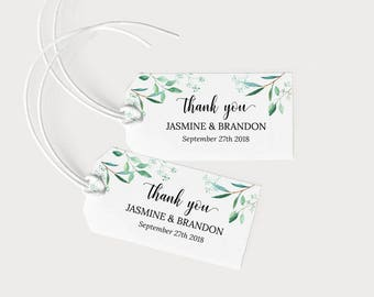 Wedding Favor Tags Printable, Wedding Favor Tags Template, Favor Tags Downloadable, Wedding Thank You Tags, PDF Instant Download #E031