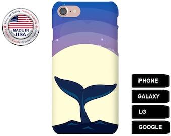 Whale Phone Case, Phone Case Whale, Whale iPhone Case, Whale Galaxy Case, iPhone 5 Case, Galaxy S8 Case, Galaxy S7 Case, Whale Lover Gift