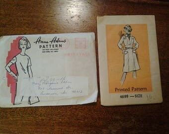 Anne Adams printed pattern 4699  size 16  never used