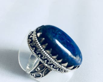 Lapis lazuli and 925 Silver ring
