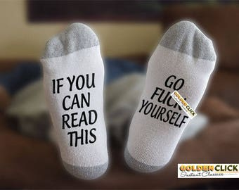 Go F Yourself Socks, Funny Socks, Gift For Him, Gift For Her