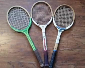 Vintage Tennis Rackets - Set of 3