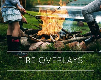 16 Fire overlays, fire flame, camp fire, transparent fire and flame, photoshop overlays, photography overlays, photo overlays, digital art