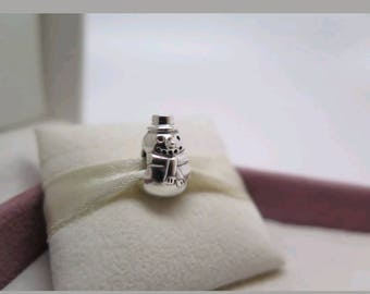 Pandora Silver Snowman Charm/New/Fully Stamped/Ale/925