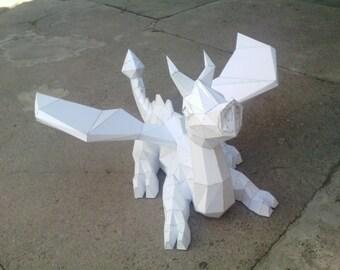 Little Dragon| Papercraft statue of Little Dragon| Paper Little Dragon|