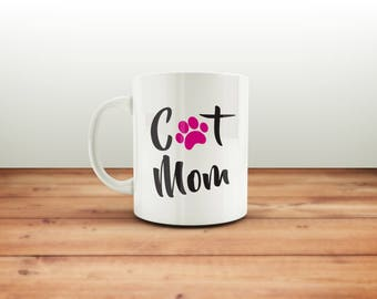 Cat Mom Mug / Gift For Cat Lovers / Cat Lovers / Cat Mom Mug / Cat Mug / Funny Mugs / Gift / Cat Family