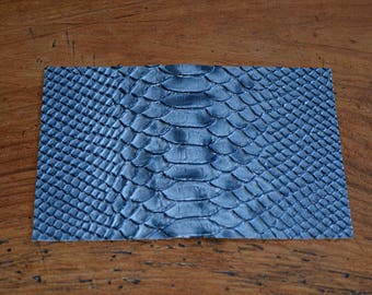Coupon of leather way blue python (9313480)