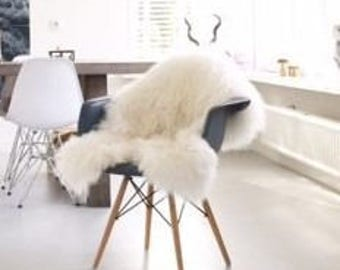 sheepskin chair pad etsy. Black Bedroom Furniture Sets. Home Design Ideas