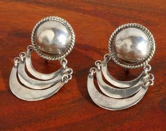Mexican Sterling Silver Screw Back Earrings