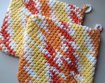 Crochet potholders, pot holder, Hotpad, Hot Pads,pot holder,gift for her,housewarming gift