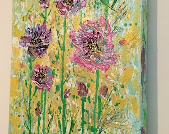 Lilac Fields original painting on canvas