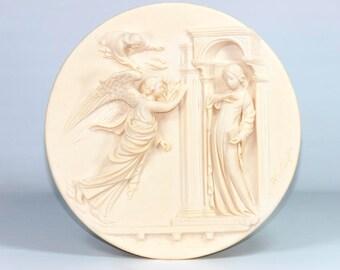 Vintage Santangela Alberto - Collector Plate - 1985 Annunciation, The - Vintage Plate - Vintage Collector Plate
