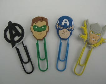 Avengers Paper Clips Super Sweet Stocking Stuffers For Kids Xmas Gifts Office Accessories Gifts (12) Super Hero Paper Clips