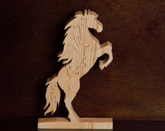 Hand Made Wood Horse Puzzle