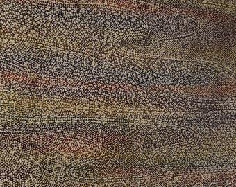 Shoken Silk Komon Kimono - Colourful Dot Waves
