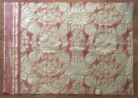 Vintage 20th Century  Fortuny Printed Cotton Fabric