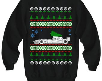 F1 Formula 1 Ugly Christmas Sweater shirt gift for men Sweatshirt racing cars indy nascar prototype
