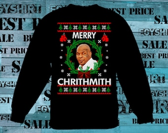 Merry Chrithmith Mike Tyson Ugly sweatshirt funny fast shipping