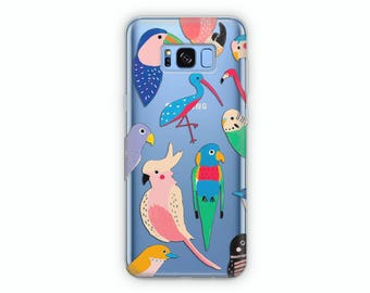 Parrots case Samsung S8 case iPhone 8 case Cute case iPhone 8 Plus case Samsung S8 Plus case parrot case Samusng Note 8 cover iPhone 7 case