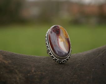 Moukaite Jasper ring, purifies the aura.
