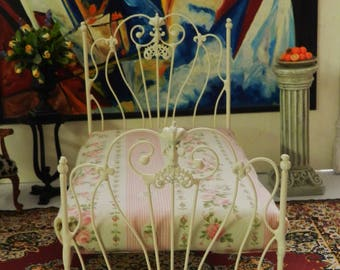 Artisan Made Dollhouse Miniature Wrought Iron Look Bed 1:12 Scale