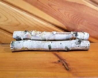 White Birch Logs, 12 Inch Wood Logs, Fireplace Decor, Home Decor, Holiday Decor. Winter Decor, Christmas Decor, Real Logs, Natural Logs