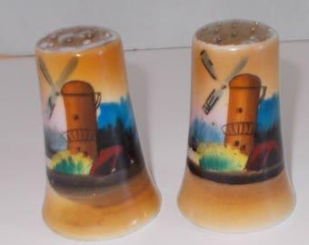 "Salt Pepper Shakers ""Windmill"" Motif....Made in Japan"
