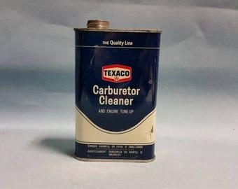 Vintage Texaco Carburetor Cleaner Can