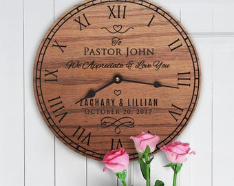 Personalized Wedding Gift For Pastor - Gift to Pastor from Bride and Groom - Gift for Pastor of Ceremony Message - Pastor Wedding Message