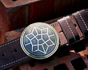 "Leather belt with brass buckle ""Thor: Ragnarök"""