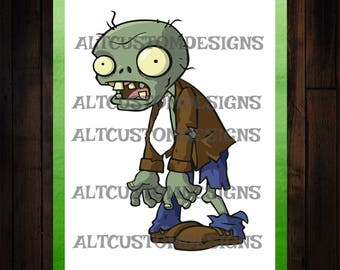 Plants vs Zombies Party Games - Plants vs Zombies Party supplies - Plants vs Zombies Pin the tie on the zombie game