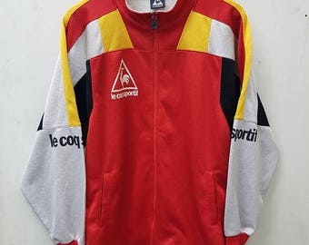 20% OFF Vintage Le Coq Sportif Big Logo Sweater Jacket Multicolour Style Jacket Nice Design