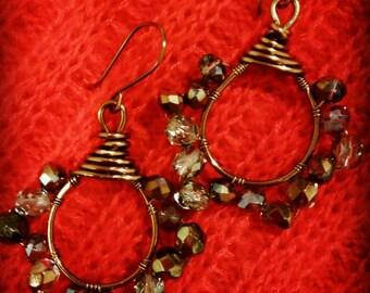 Earrings crystal vintage