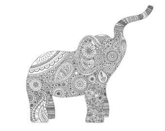 Elsie Elephant Print