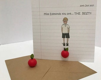 Easter Sale Sale....Teachers Thank You Card. Card for teacher. Male or Female.
