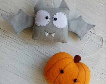 halloween ornaments cute halloween ornament felt halloween favors skary felt toys halloween decorations party favor scary