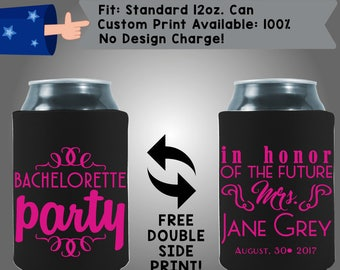 Bachelorette party In Honor Of The Future Mrs. Name Date Collapsible Fabric Bachelorette Party Cooler Double Side Print (Bachelorette32)
