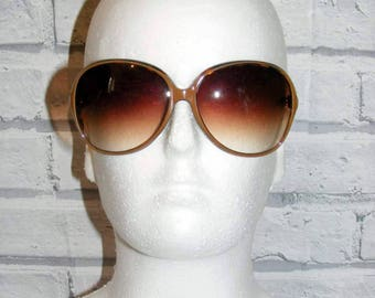 Vintage 80s deadstock oversize graduated round sunglasses tortoiseshell (HY05)