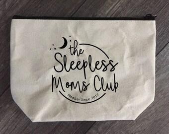 Sleepless Mom's Club Zippered pouch