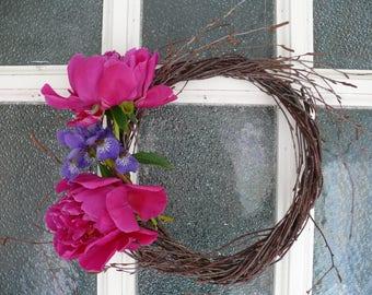 Wreath with thin birch branches, birch wreath, wreath for decoration, blanc for decoration, wreath do it by your self, door decor, wreaths.