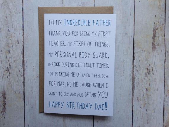 Dad birthday card funny dad birthday card birthday card like this item bookmarktalkfo Choice Image