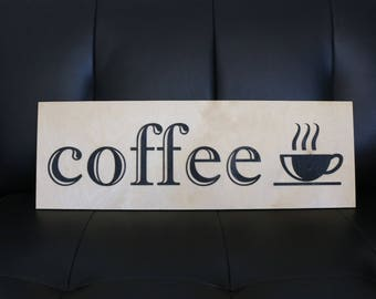 Coffee Shop Sign | Modern Home Decor | Kitchen Decor | Coffee Sign | Coffee  Shop