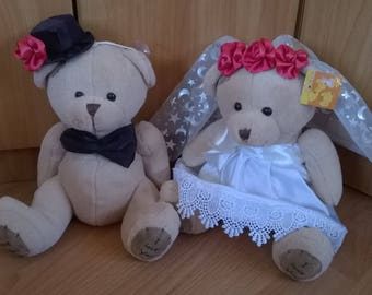 Bride and Groom Wedding dolls Wedding Teddy Bears Wedding gifts Couple Wedding gift Shabby Chic Decor, Wedding decoration Toys
