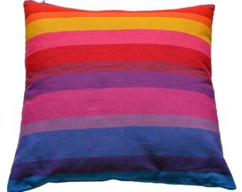 Pillowcase of happy stripes - fair trade, 100% cotton, 50x50cm, #160