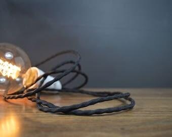 LUMENS Plug In Pendant Black