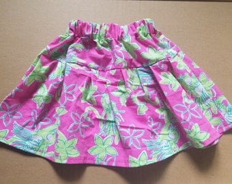 Pink Twirl Skirt with luau monkeys - 18 months