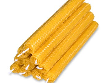Pure Beeswax Candles, SMOKELESS, DRIPLESS, Set of 10, FREE Shipping.