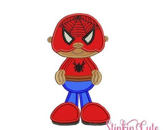 Little Super Hero 4 Spiderman Machine Embroidery Designs Applique